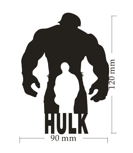 New design removable hulk vinyl car window sticker