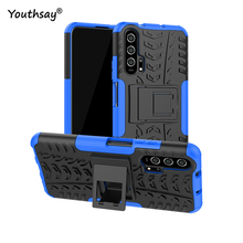 For Huawei Honor 20 Case Hard Heavy Duty Rubber Fundas Phone Cover for case