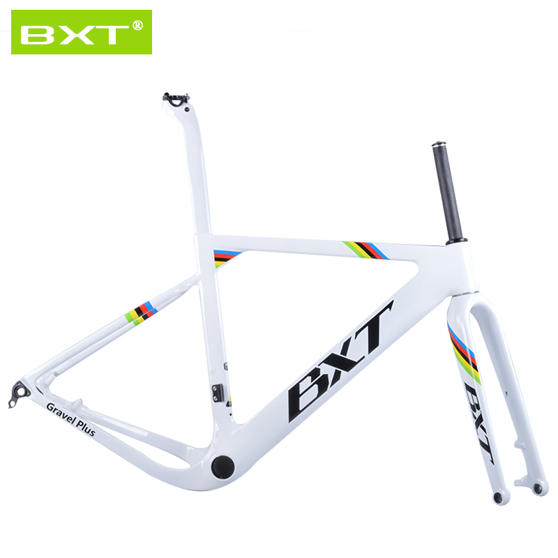 2018 NEW BXT arrival Aero Road or MTB Bike Frame S/M/L size Cyclocross Frame Disc Bike Carbon Gravel frame thru axle 2017 newest 1 1 disc road bike frame 4 sizes for disc carbon frame ultra light frame fork seat post headset bb adapter thru axel