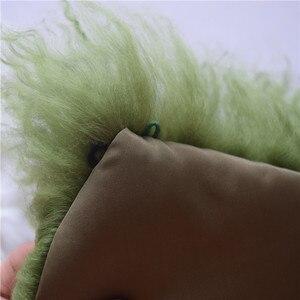 Image 5 - 75 センチメートルリアル毛皮の襟ウールの毛皮 2018 新ファッション黒緑の毛皮の襟の毛皮の襟ダウンジャケット 5 色