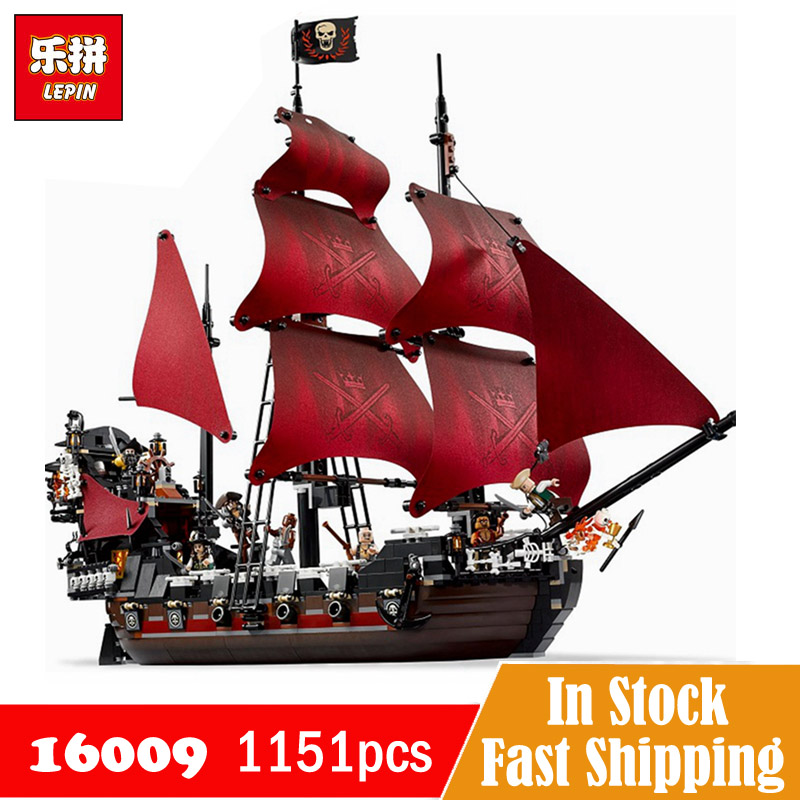 16009 Legoe Pirates Of The Caribbean Queen Annes Revenge Ship Blackbeard Movie Figures Set Lepin Blocks Toy Gifts 1151pcs
