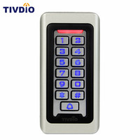 防水金属ケース用キーパッドrfid近接カードスタンドアロンアクセスコントロール& 2000ユーザーのため屋外&屋内シルバーF9501