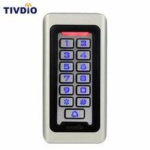 Водонепроницаемый металлический корпус клавиатуры для RFID автономный Управление доступом и 2000 пользователей для наружного и внутреннего серебро F9501