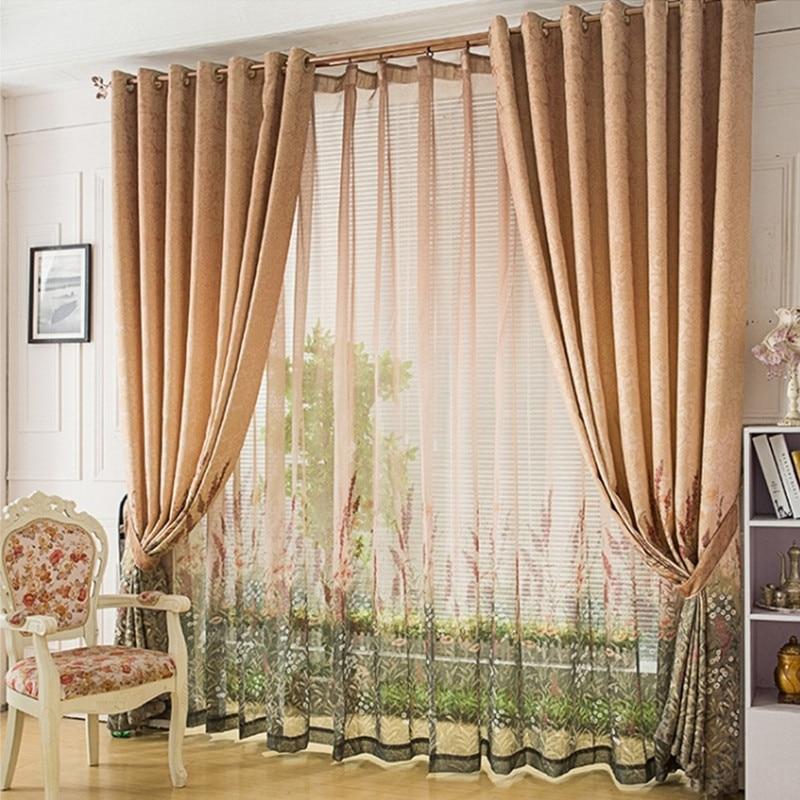 Exklusive Zeigen Druck Semi Schatten Tuch Lavendel Vorhang