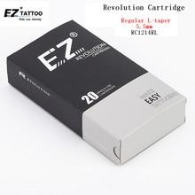 RC1214RL EZ Revolution Tattoo Needle Cartridges Rould Liner Needles  #12 (0.35 mm) Regular Long Taper (5.5mm) 20 pcs/Box