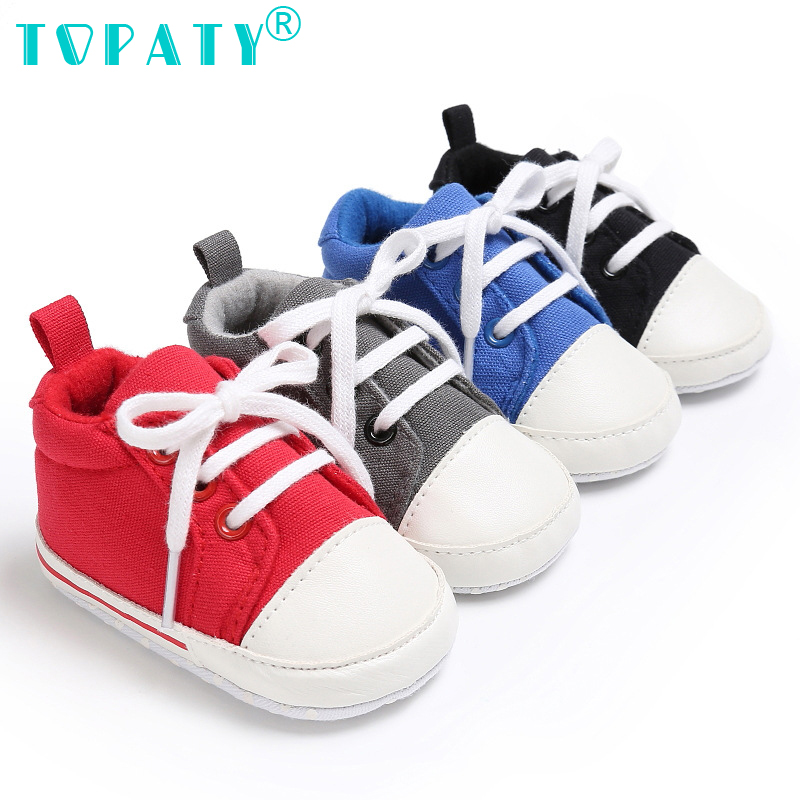 Newborn Sneakers baby Shoes girls Boys Toddler shoes lace up soft sole Kids Shoes Sapatos Canvas Zapatos Bebe Infant prewalkers ...