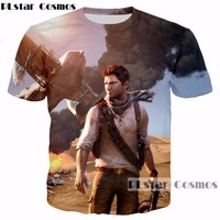 PLstar Cosmos Free Shipping 2017 New Fashion 3d T Shirt Classic Game Uncharted Prints T Shirts