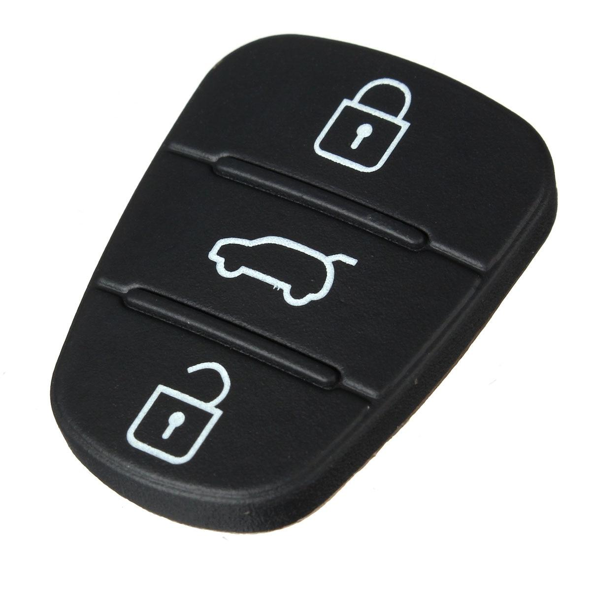 3 Taste Remote Key Fob Fall Gummi Pad Für Hyundai I10 I20 I30 Flip Schlüssel Shell Fall Für Auto