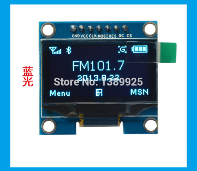 US $17 99 |2pcs 1 3 inch Blue OLED Module SSD1106 Drive IC Compatible with  SSD1306 IC 128*64 IIC/SPI Interface-in LCD Modules from Electronic