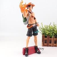 One Piece Figure One Piece Anime Portgas D Ace Action Figure Fire Fist Ver. Super Master Piece Toy 31.5cm