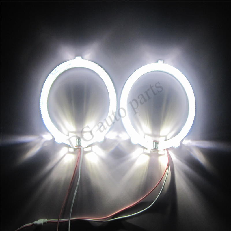 One Pair 85mm Angel Eyes 100mm 6W SMD Super LED Light Ring Running Lights DRL for Car Headlights Motorycle Lamps Waterproof angel eyes super led light ring for car headlights motorcycle 50mm 5w x 2 one pair white amber red green blue