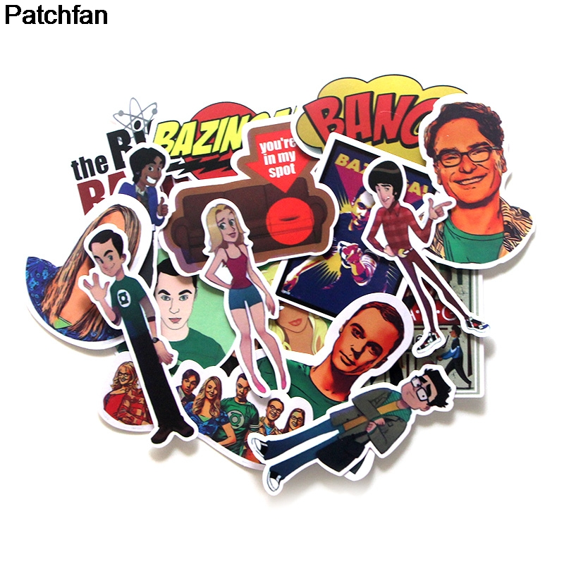 Patchfan 17pcs 90s TBBT badge DIY decorative stickers kids DIY wall notebook phone case scrapbooking album A1925 image