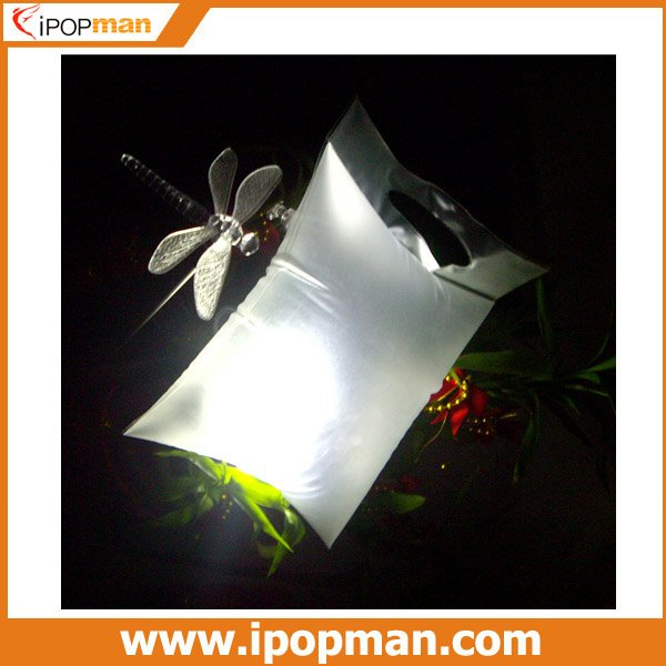 10pcs/lot Solar Lantern Bag Solar Energy Bag with 0.5W solar panel, 100-120LM brightness, Waterproof & Foldable, Free shipping