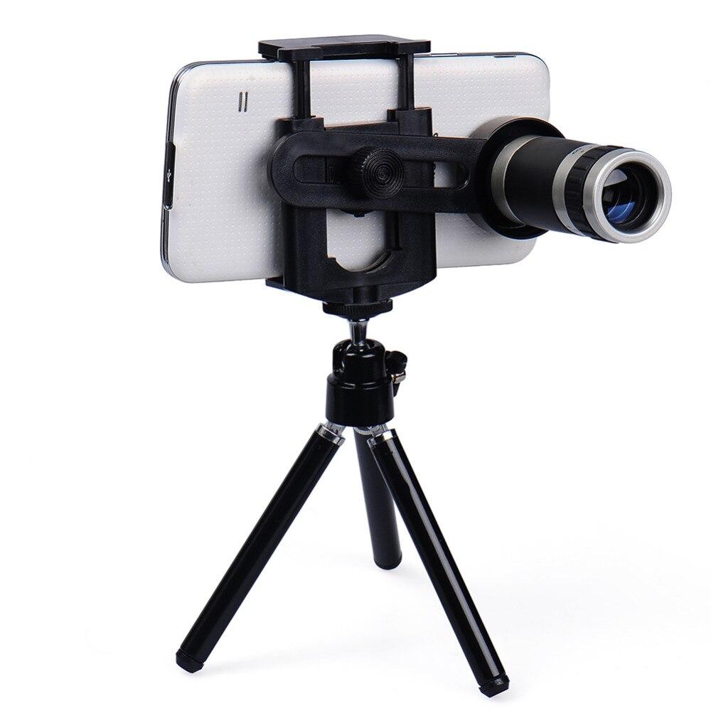 Universal Mobile Phone Lens 8X Telescopio Dello Zoom Teleobiettivo per iphone 6 5 s Samsung S6 S5 HTC LG Moto Phone Tripod trasporto di goccia