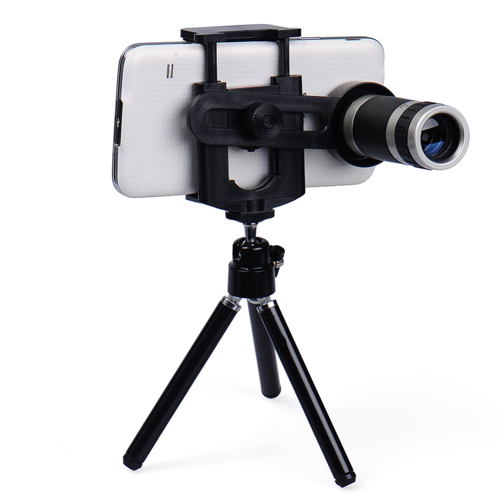 Universal Seluler Telepon Lensa 8X Zoom Teleskop Telephoto untuk iPhone 6 5 S Samsung S6 S5 Htc Lg Moto Telepon tripod Jatuh Pengiriman-Internasional