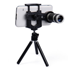 Cheap price universal Mobile Phone Lens 8X Zoom Telescope Telephoto for iphone 6 5s Samsung S6 S5 HTC LG Moto Phone Tripod drop shipping