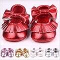 Cuero de LA PU Sólido Bebé Recién Nacido Infant Toddler Mocasines Moccs Suaves Arco Prewalkers Mary Jane Zapatos del Pesebre Bebe Primeros Zapatos de Los Caminante