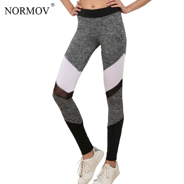 9981b6ed3c3ec NORMOV Autumn Sporting Mesh Leggings Women Push Up Leggins Activewear  Patchwork Jeggings Polyester Workout Legging S-XL 7 Colors
