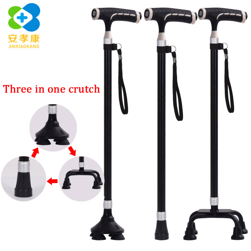 ANXIAOKANG Safe Reliable Old Man Crutches Magnetic Therapy Massage Anti-skid T-handle Pole Walking and Hiking Stick for ElderlyANXIAOKANG Safe Reliable Old Man Crutches Magnetic Therapy Massage Anti-skid T-handle Pole Walking and Hiking Stick for Elderly