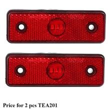 2 pcs 12 v 24 v 자동차 레드 led 트레일러 사이드 마커 라이트 트레일러 라이트 테일 라이트 마커 led 위치 로그인 너비 트럭 트럭 램프