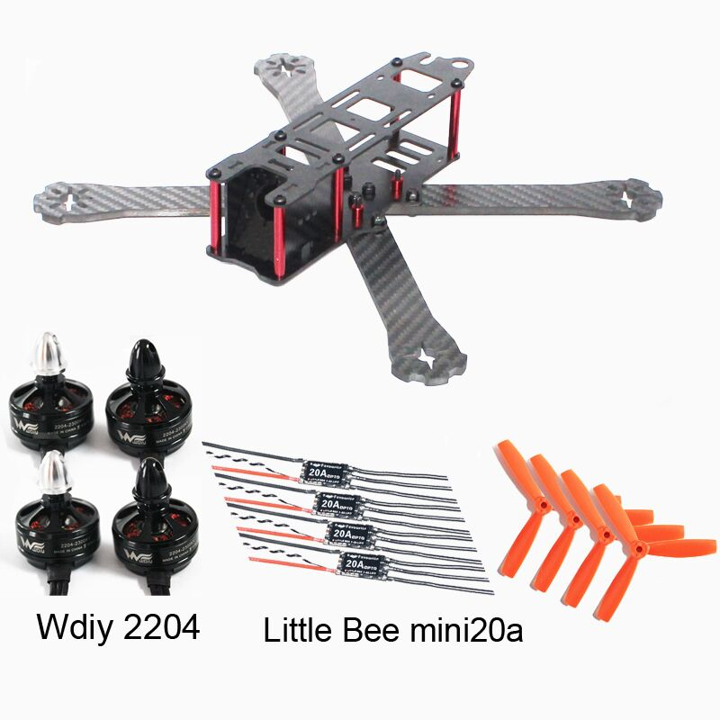 DIY fpv wst 220mm quadcopter frame Dynamic Balancing 5045 propeller for racing mini drone Little Bee mini 20a