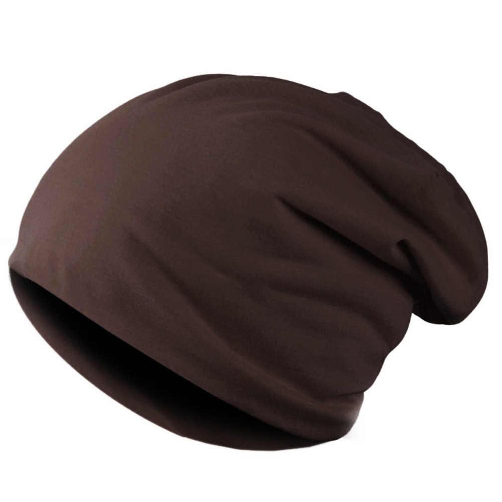 Bahar kadın erkek Unisex örme kış kap Casual Beanies katı renk Hip-hop yapış Slouch Skullies Bonnet bere şapka Gorro