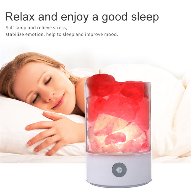 New arrival night lamp USB Crystal Salt Night Light Himalayan Crystal Rock Salt Lamp Air Purifier Night Light