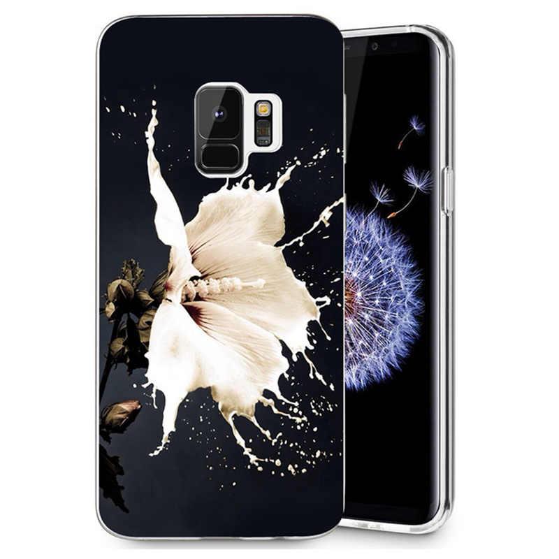 ТПУ роскошь для samsung Galaxy S3 S9 S9Plus S8 S8 плюс S7 S7 края Примечание 8 Красочные Мягкие Флора Цветок лицо дизайн корпуса Fundas R078