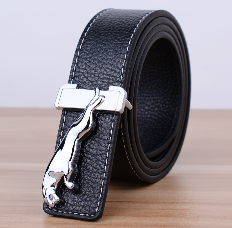 Jaguar Clothing Accessories: New Fashion 2016 Men's Belt Jaguar Buckle Faux Leather