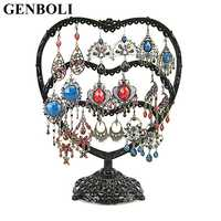 Cup Heart Jewelry Holder Metal Earrings Necklace Ring Rack Organizer Storage Stand Rack For Jewelry Display Container Stand 2020