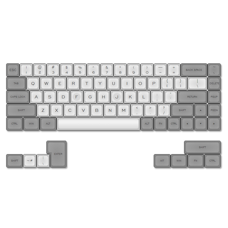 top printed DSA keycaps for tada68/gh60/poker mx mechanical keyboard pbt caps keycap kbdfans new arrival dsa keycap top printed keycaps 26 keys mechanical keyboard