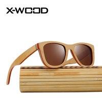 X-WOOD Beste Skateboard Hout Luxe Gepolariseerde Zonnebril Hoge Kwaliteit Spiegel Lens Voor Mannen Vrouwen Designer Sunglass Hout Eyewear
