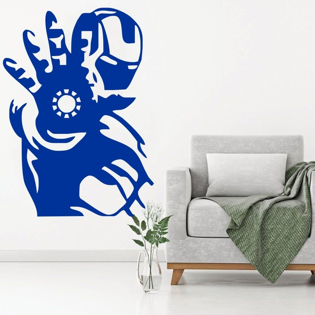 Iron Man Wall Art Decal Tony Stark Vinyl Sticker Marvel Comic Boys ...