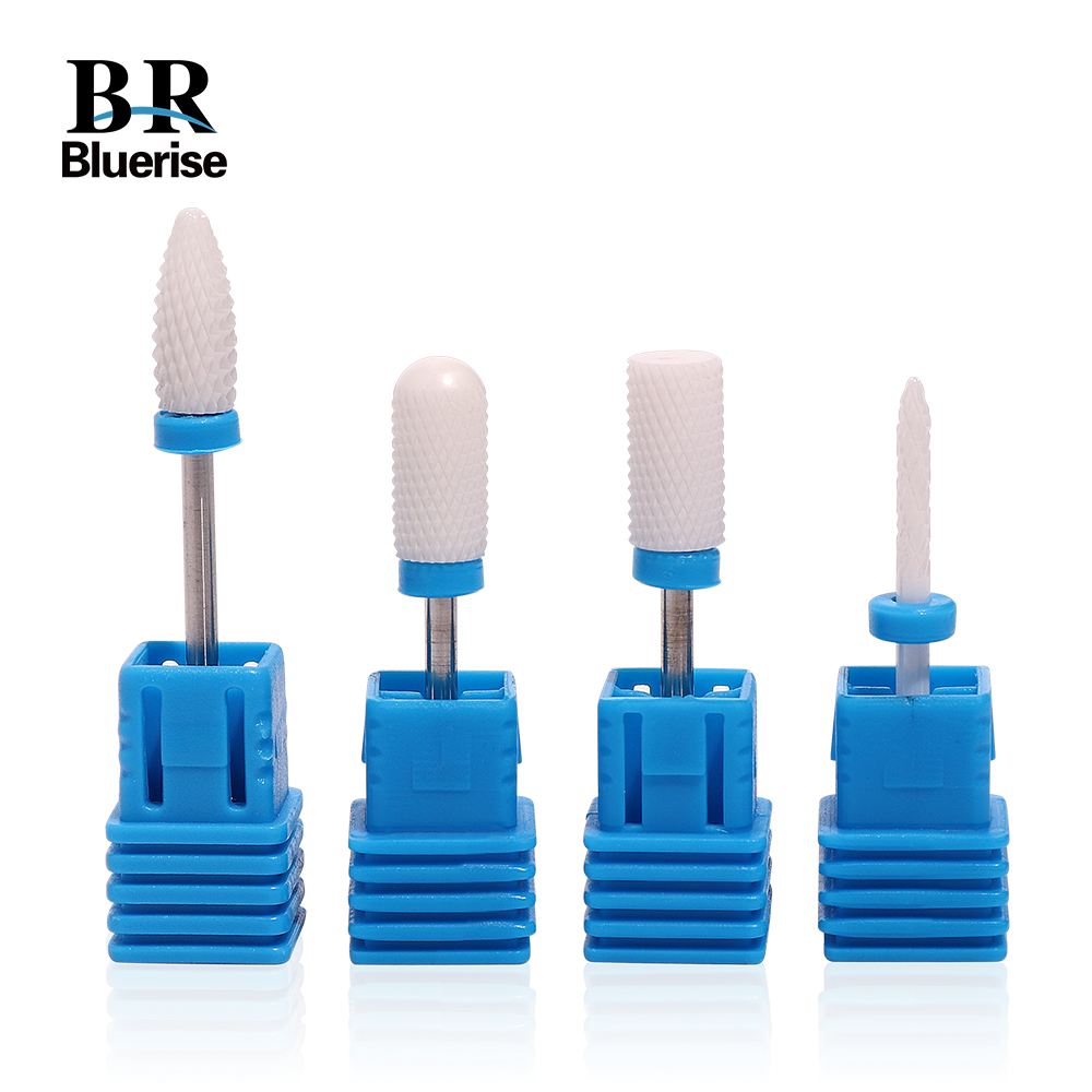 4 Pcs M Ceramic Nail Drill Bit Set of Milling Cutters for Manicure Pedicure Electric Nail Drill Accessoires Removing Gel Varnish