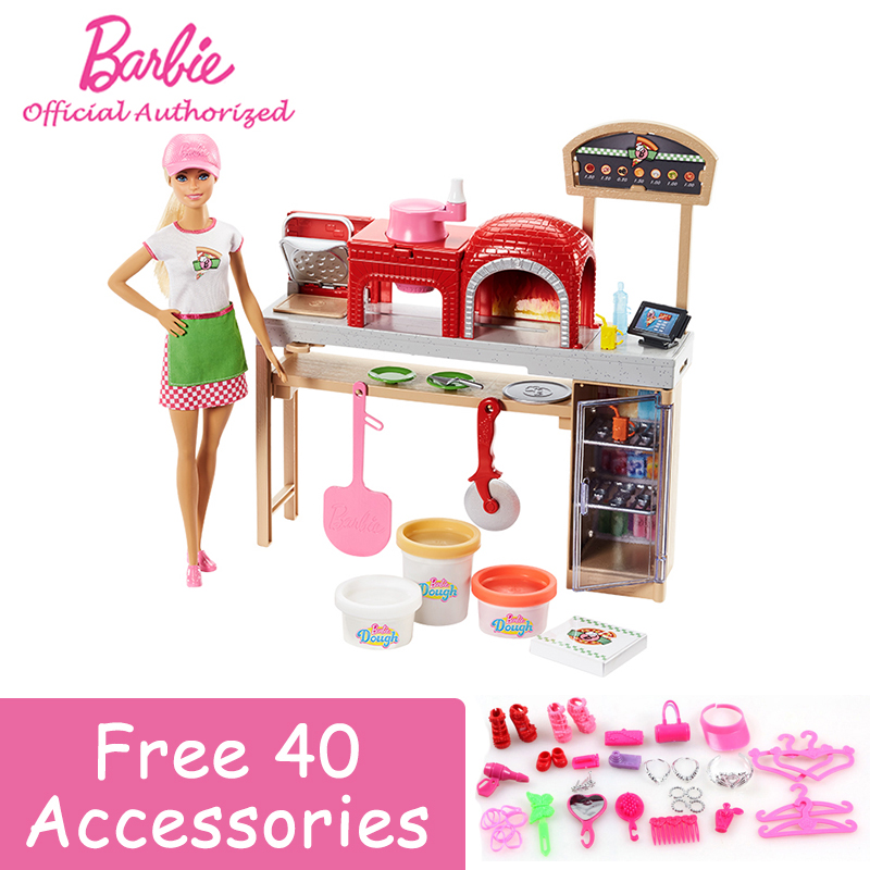 Barbie 2018 new style pretty barbie girl doll toy pizza - Cocina juguete aliexpress ...