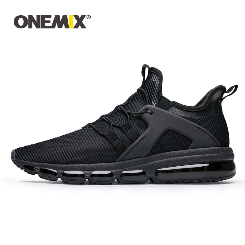 ONEMIX Men Sports Shoes Running Sneakers Outdoor Jogging Shoes Sock-shoes Damping Cushion Sneakers For Walking Big Size 36-47