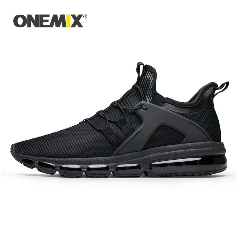 ONEMIX hommes chaussures de sport baskets de course chaussures de Jogging en plein air chaussette-chaussures coussin d'amortissement baskets pour la marche grande taille 36-47