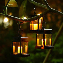 Retro LED Solar Power Panel Candle Wall Lantern Lights Waterproof Outdoor Garden Street Lamp Charging Garland Luminaria decor(China)
