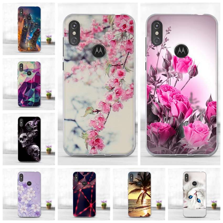 Phone Case For Motorola Moto One Power P30 Note Case Solf TPU Fashion Cute Mobile Cellphone For Moto One P30 Back Cover 6.2