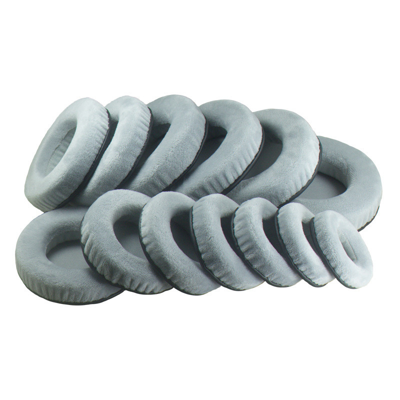 General Grey Velvet Foam Ear Pads Cushions 60 65 70 75 80 85 90 95 100 105 110 115 120MM For SONY For Sennheiser Headphones