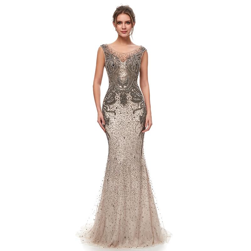 Luxury Beading Mermaid Celebrity Dresses 2019 Vintage
