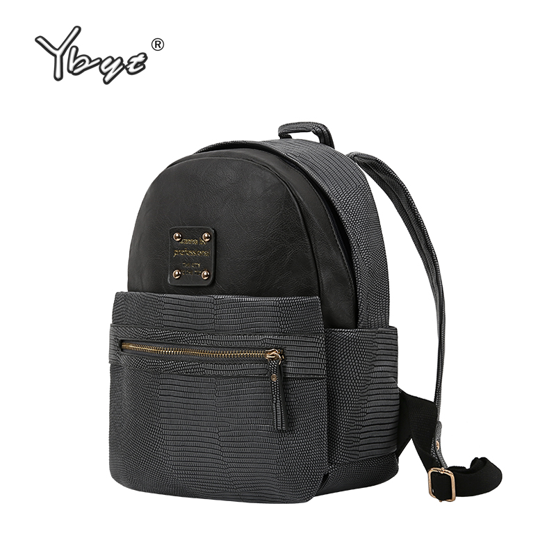 YBYT brand 2018 new PU leather women casual rucksack girls school bookbags female serpentine bags ladies simple travel backpacks simple designer small backpack women white and black travel pu leather backpacks ladies fashion female rucksack school bags