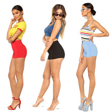 2019 summer stretch high waist womens denim shorts popular new fashion jeans casual solid color sexy slim pants