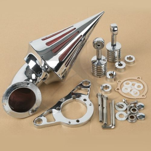 Motorcycle Spike Air Cleaner Intake Filter For Harley Dyna Super Glide Street Bob 2004-2007 2005 2006 Rocker Softail Night Trail chrome motorcycle spike air cleaner filter case for harley softail rocker cross bones 2008 2009 touring softail dyna 2004 2007