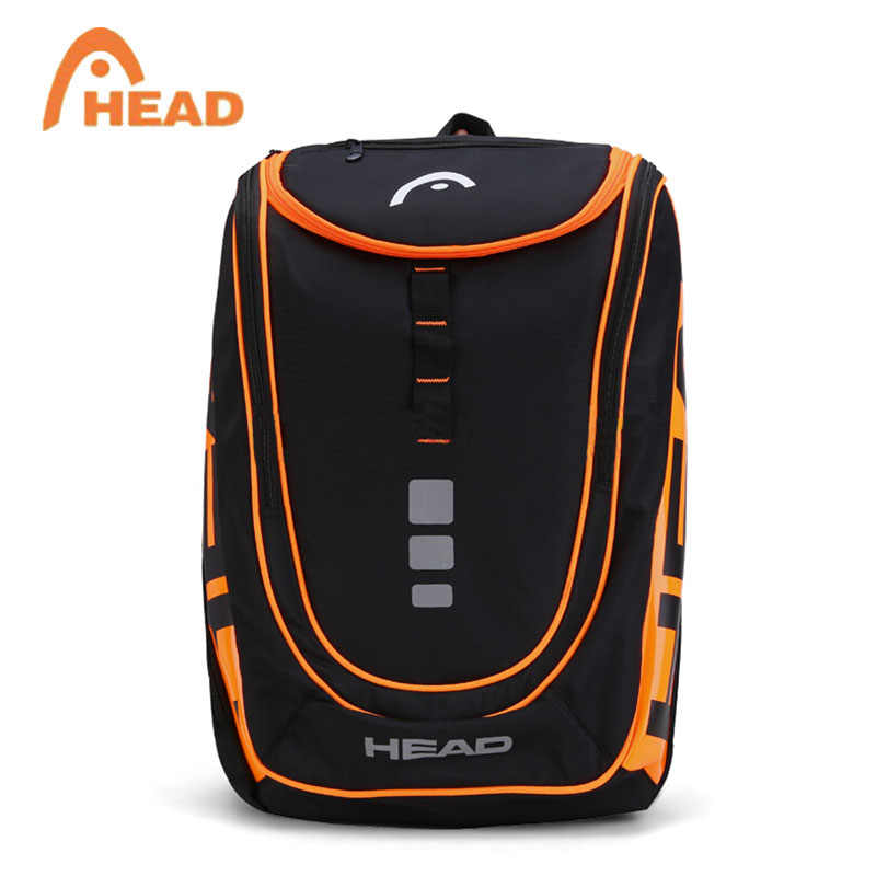 HEAD Racket Backpack For Max 2 Rackets With Shoes Bag Professional Men's Tennis Bag All Sports Accessories In 2018 New