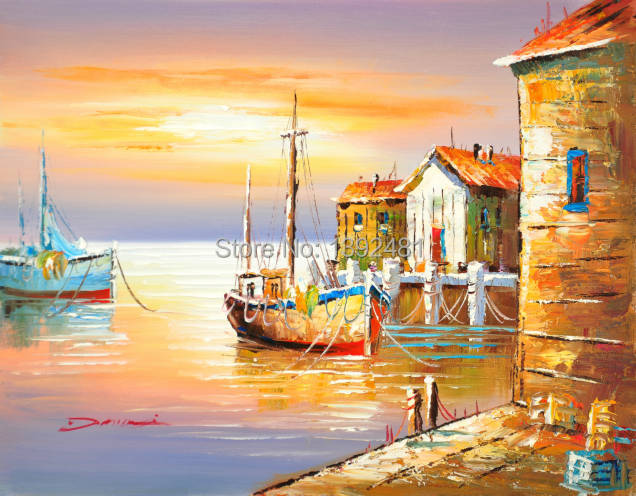 Village by Sea Home Decor for Living room Free Shipping ...