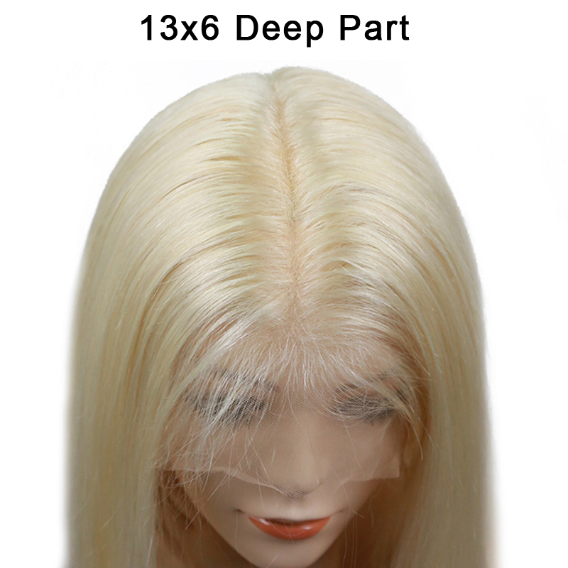13x6 Short Bob Lace Front Human Hair Wigs 613 Honey Blonde Wig 150 Density Straight Colored Brazilian Bob Wigs For Women Remy