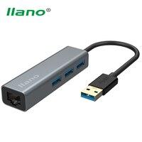 Llano USB 3 0 Gigabit Ethernet Adapter 3 Port USB3 0 HUB 1000M USB To RJ45