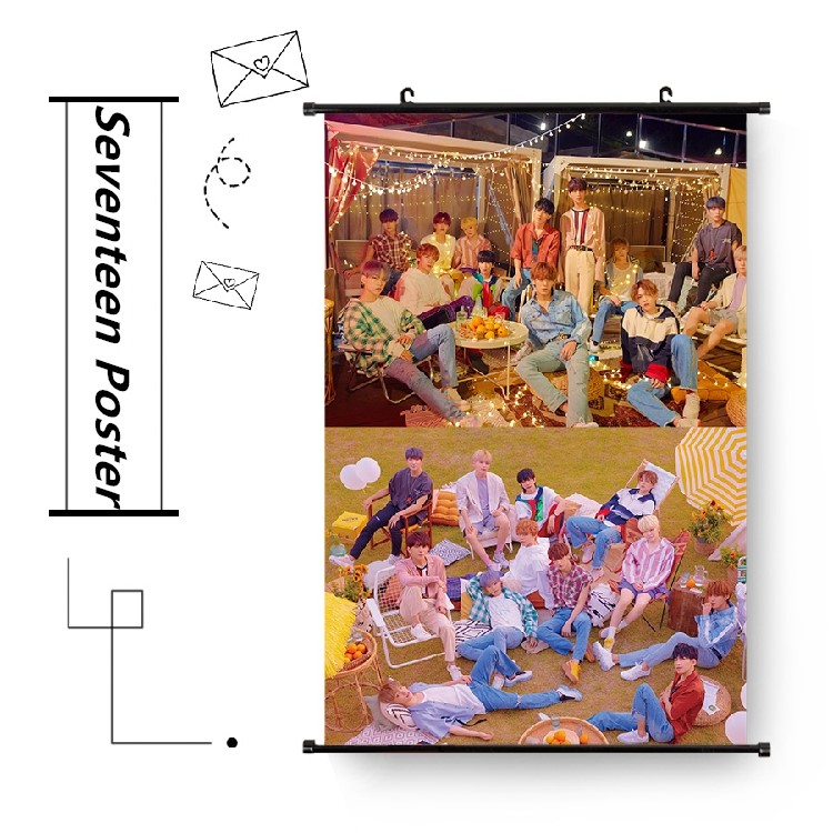 Glorious Kpop Seventeen Hang Up Fabric Photo Picture You Make My Day Album Wall Scroll Poster Jewelry & Accessories