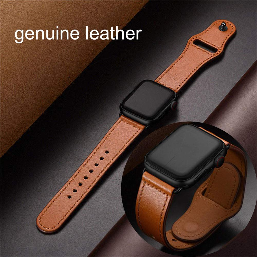 Iwujiao Strap For Apple Watch Band Genuine Leather Loop